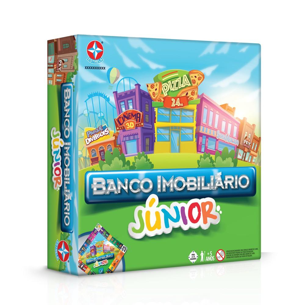 Jogo Banco Imobiliário versão Jr Embalagem