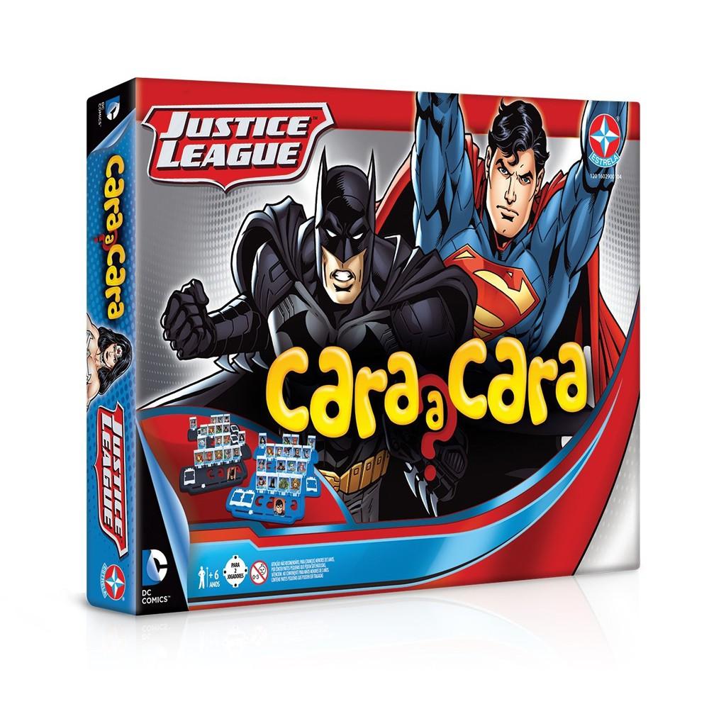 Caixa do Jogo Cara a Cara Liga da Justiça da Estrela