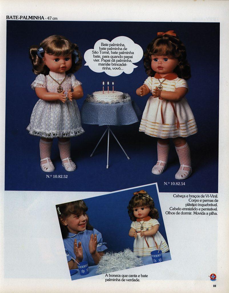 Catálogo de 1980 da Boneca Bate Palminha da Estrela