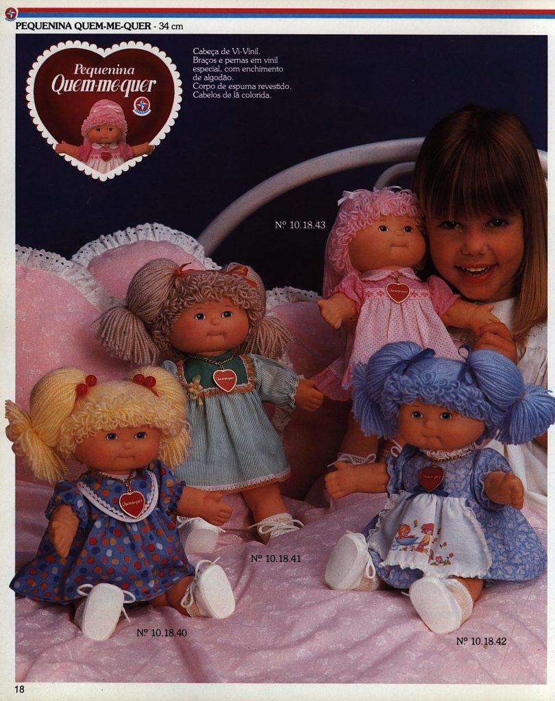 Catálogo de 1980 da Boneca Quem me Quer da Estrela