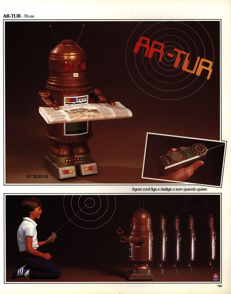 Catálogo de 1980 do Brinquedo Ar-Tur da Estrela