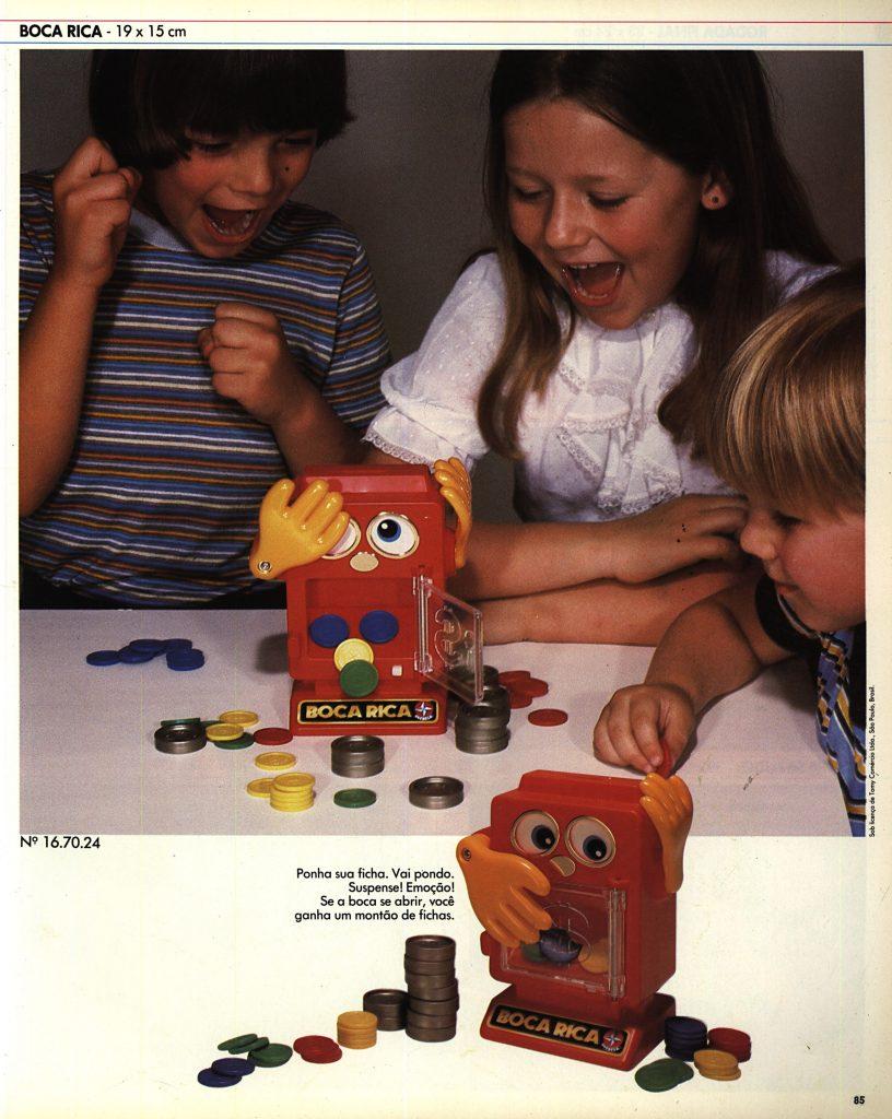 Catálogo de 1980 do Brinquedo Boca Rica da Estrela