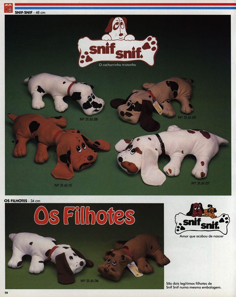 Catálogo de 1980 do Brinquedo Snif Snif da Estrela