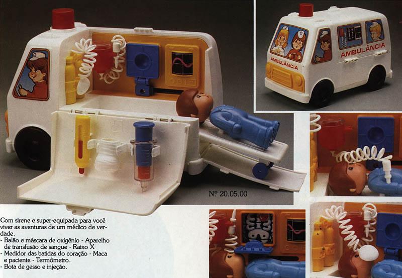 Catálogo do Brinquedo Ambulância do Dr. Saratudo de 1980 da Estrela