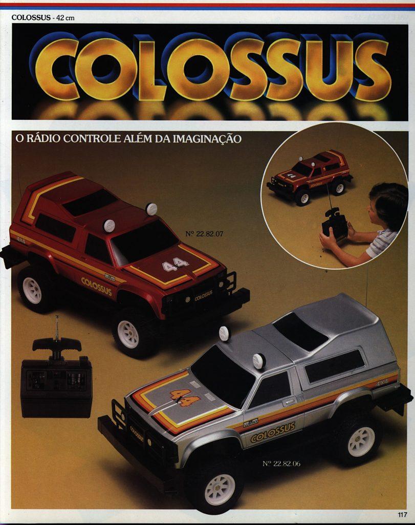 Catálogo de 1980 do Brinquedo Colossus da Estrela