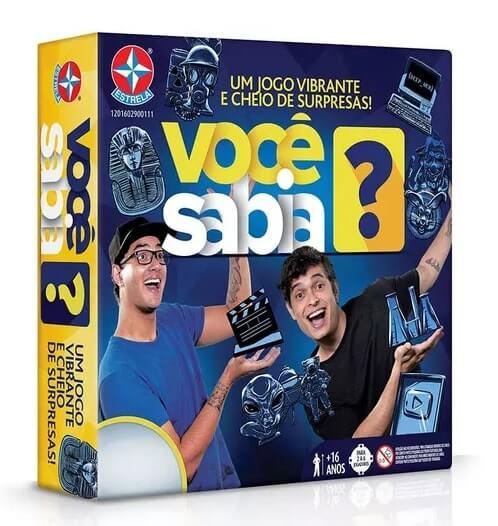 Embalagem do jogo Você Sabia?