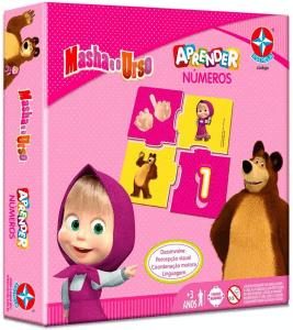 Jogo Matemática Estrela Brinquedos Jogo Aprender Números Masha e o Urso