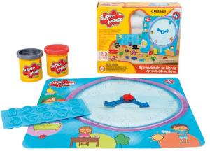 Jogo Matemática Estrela Brinquedos Massinha Super Massa Aprendendo as Horas