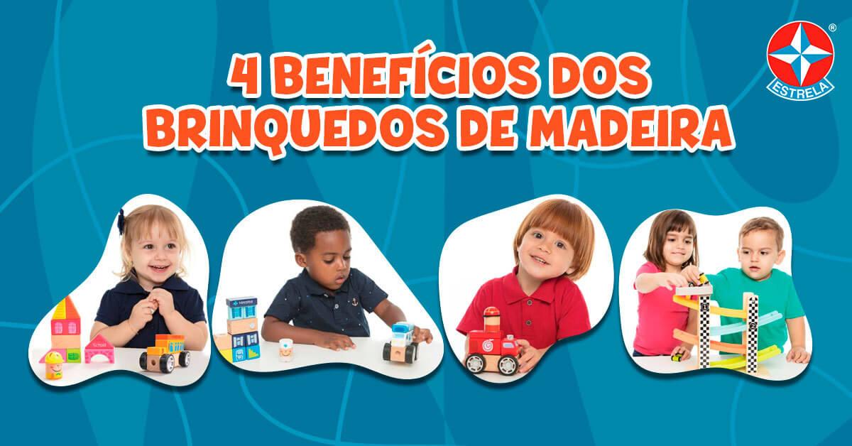 Benefícios dos brinquedos de madeira para as crianças