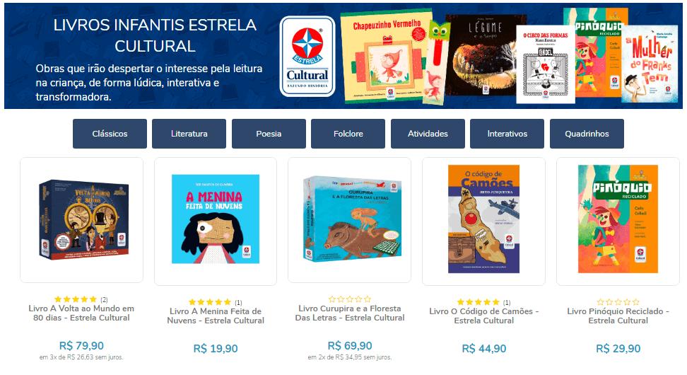 Livros Infantis Estrela Cultural - Literatura, Poesia, Folclore, Atividades, Interativos, Quadrinhos.