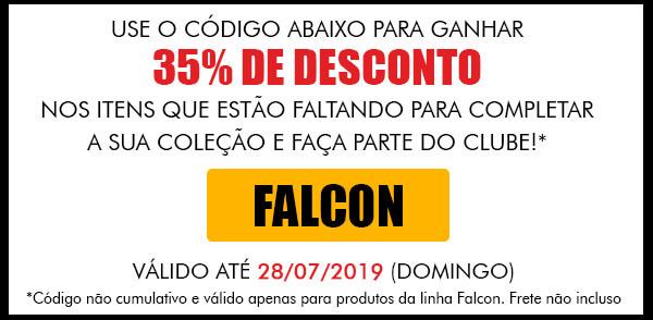 35% de desconto em todos os bonecos da linha Falcon no site da Brinquedos Estrela